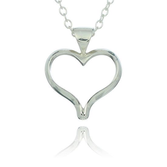 Open heart pendant necklace aloadofball Choice Image
